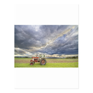 Turbo Tractor Country Evening Skies Postcard
