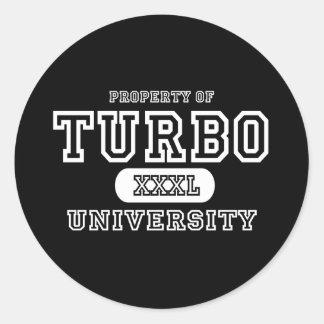 Turbo University Dark Classic Round Sticker