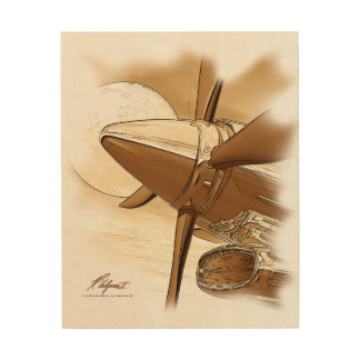 Turbo Vintage Aircraft Wood Wall Art