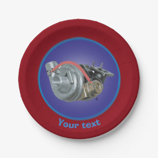 Turbocharger 7 Inch Paper Plate