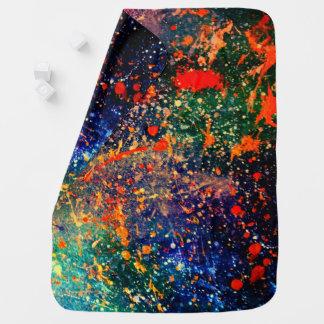 Turbulence Baby | Colorful Bold Rainbow Splatter | Baby Blanket