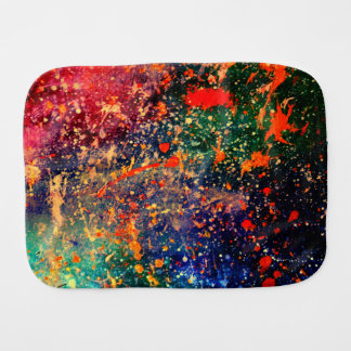 Turbulence Baby | Colorful Bold Rainbow Splatter | Burp Cloth
