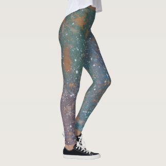 Turbulent Fashion | Worn Mottled Splatter Abstract Leggings