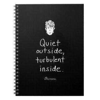 Turbulent Inside Black Notebook