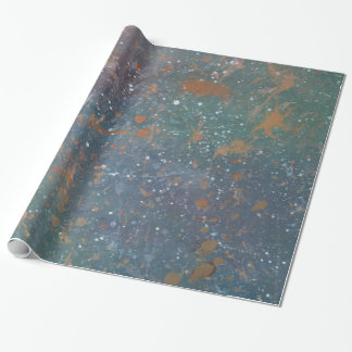 Turbulent Party | Faded Rainbow Abstract Splatter Wrapping Paper