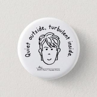 Turbulent Small White Button