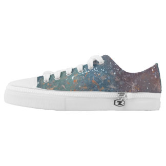 Turbulent Style | Faded Worn Abstract Splatter | Low Tops