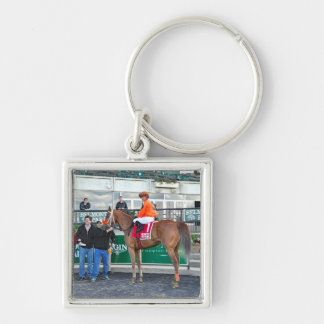 Turco Bravo and Javier Silver-Colored Square Key Ring