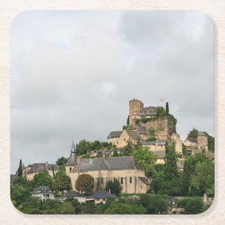 Turenne village in France Square Paper Coaster