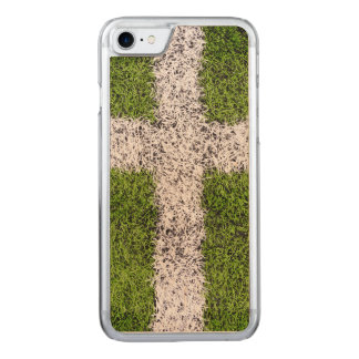 Turf cross carved iPhone 8/7 case