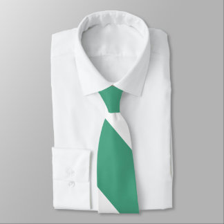 Turf Green and White Broad University Stripe Tie