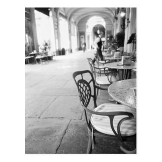 Turin Italy, Cafe and Archway Postcard