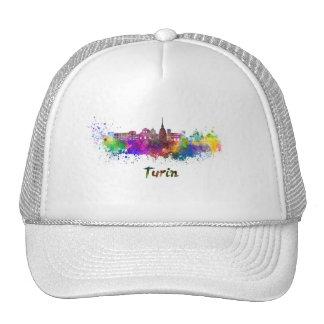 Turin skyline in watercolor cap