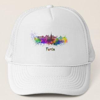 Turin skyline in watercolor trucker hat