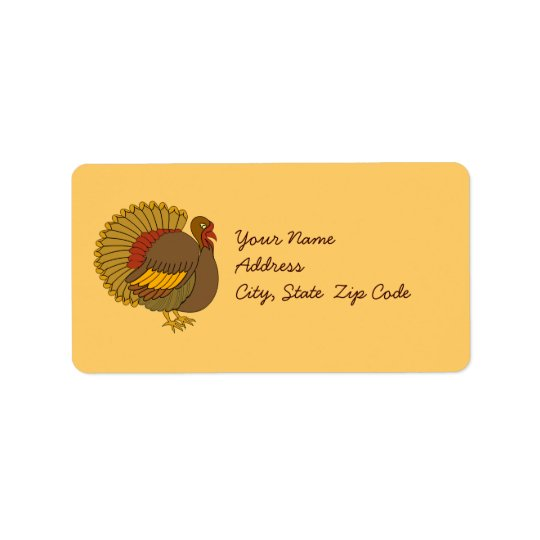 Turkey Address Label Stickers