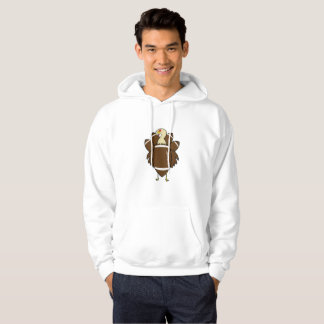 Turkey And Football Thanksgiving Funny Hoodie