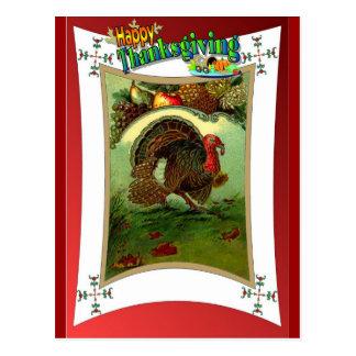 Turkey and harvest  produce postcard