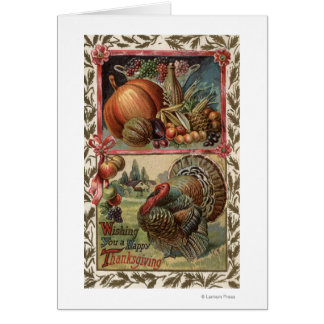 Turkey and Produce # 2 Greeting Card