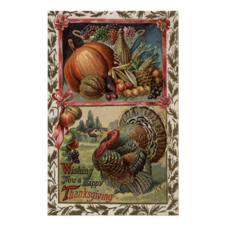 Turkey and Produce # 2 Poster