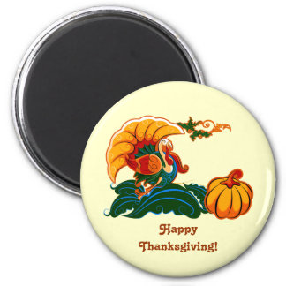 Turkey and Pumpkin Thanksgiving Magnets