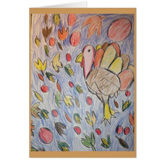 turkey art three card