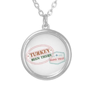 Turkey Been There Done That Silver Plated Necklace