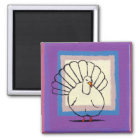Turkey big tom bird unique modern art painting magnet