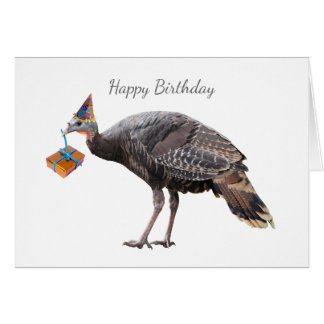 Turkey Birthday Card