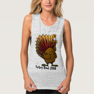 Turkey Bowl - change to current year Flowy Muscle Tank Top
