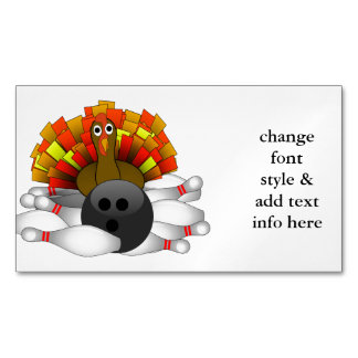 Turkey - Bowling Strike Magnetic Business Cards