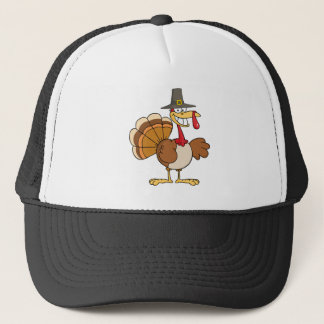 Turkey Cartoon Character Trucker Hat