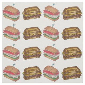 Turkey Club Reuben Diner Deli Sandwich Shop Foodie Fabric