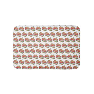 Turkey Club Sandwich Restaurant Diner Foodie Food Bath Mat