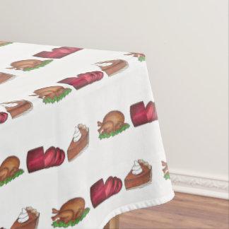 Turkey Cranberry Pumpkin Pie Thanksgiving Dinner Tablecloth