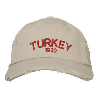Turkey Custom Distressed Baseball Cap