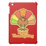 Turkey Cute Cartoon Happy Thanksgiving Design iPad Mini Cover