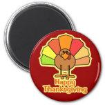 Turkey Cute Cartoon Happy Thanksgiving Design Fridge Magnets