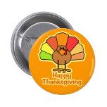Turkey Cute Cartoon Happy Thanksgiving Design Pin
