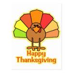 Turkey Cute Cartoon Happy Thanksgiving Design Postcards