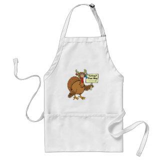 Turkey Day Jokes Turkey Hiding Out On Thanksgiving Standard Apron