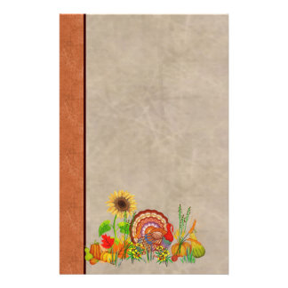 Turkey Day Customized Stationery
