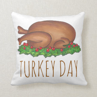 Turkey Day Thanksgiving Dinner Holiday Pillow