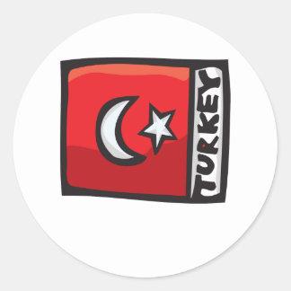 Turkey Design Round Sticker