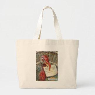 Turkey Eating November Calendar Jumbo Tote Bag