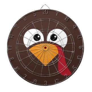 Turkey Face Heart Thanksgiving Dartboard