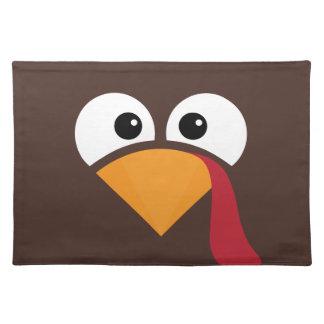 Turkey Face Heart Thanksgiving Placemat