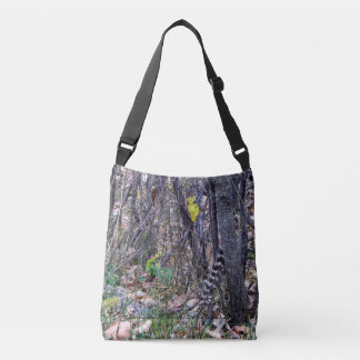 Turkey Feather Cross Body Tote Bag