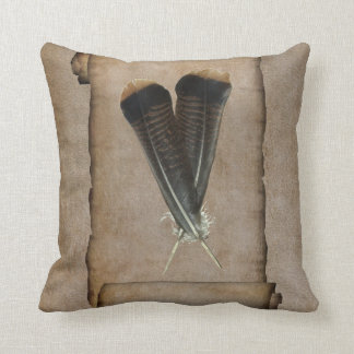 Turkey Feather Quill Cushion