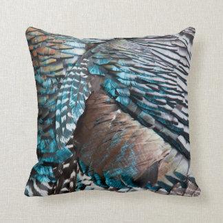 Turkey feathers cushion
