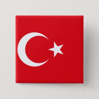 Turkey flag 15 cm square badge